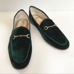 d09bea84deb90a Sam Edelman Shoes - NWT Sam Edelman Loraine Bit Green Velvet Loafer 7